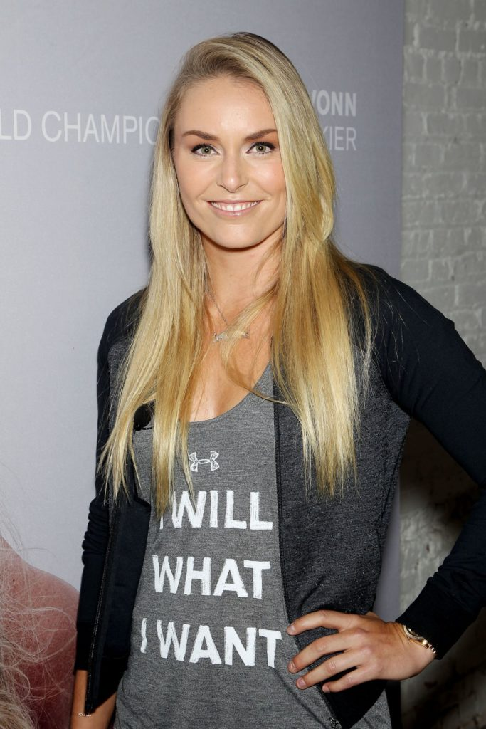 "Lindsey Vonn at ""I will what I want"" campaign launch"