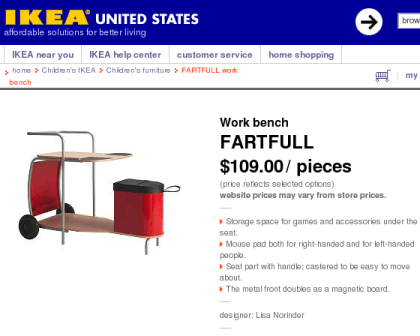 marketing fails - ikea fartfull