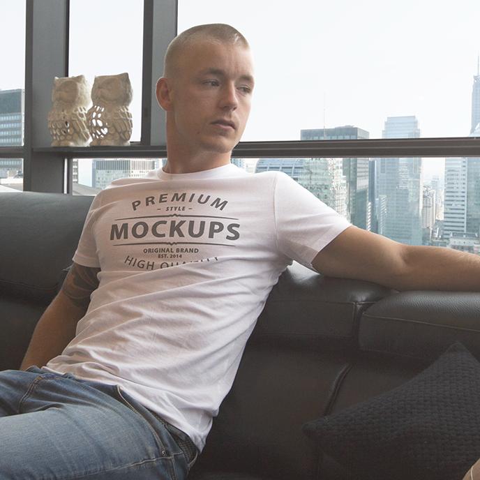 men-t-shirt mockup