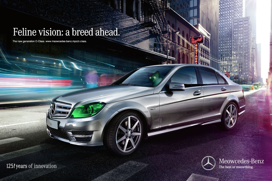 mercedes benz, mercedes benz advert, mercedes benz catvertising