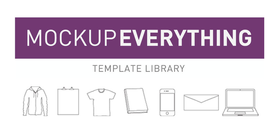 template library, mock ups