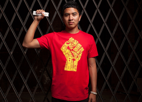 Revolution fist t-shirt, revolution t-shirt,