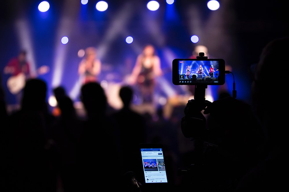 live stream, concert, camera, live, streaming