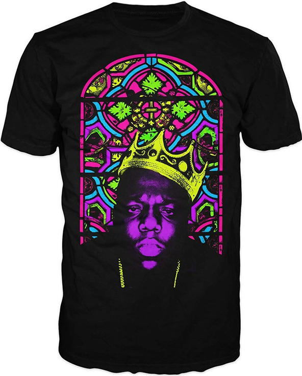 notorious big t-shirt, notorious big neon t-shirt, neon t-shirt, neon t-shirts