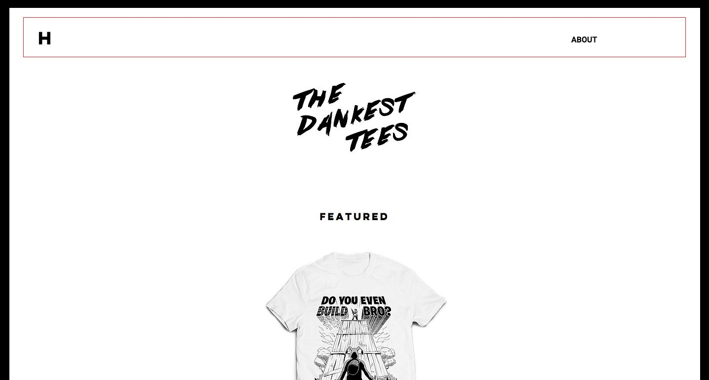 the dankest tees, screen grab, online t-shirt store
