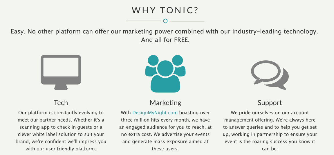 online ticketing platform - tonic ticketing