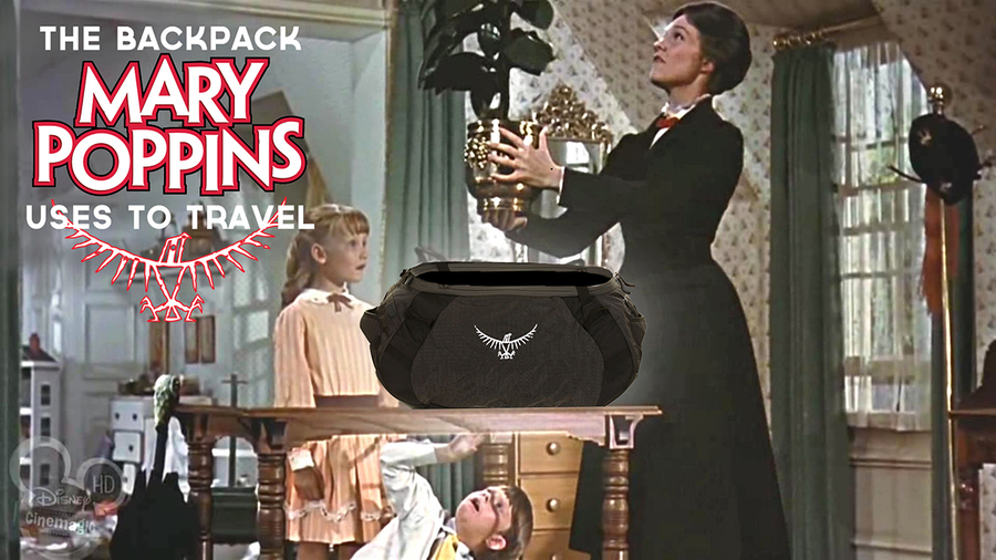 mary poppins, osprey backpacks, brand ambassadors, fictional brand ambassadors,