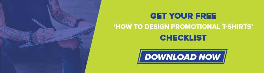 how to design a promotional t-shirt checklist