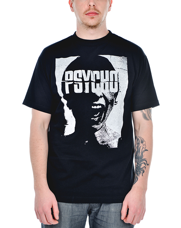 psycho t-shirt, psycho, psycho movie t-shirt, black and white,