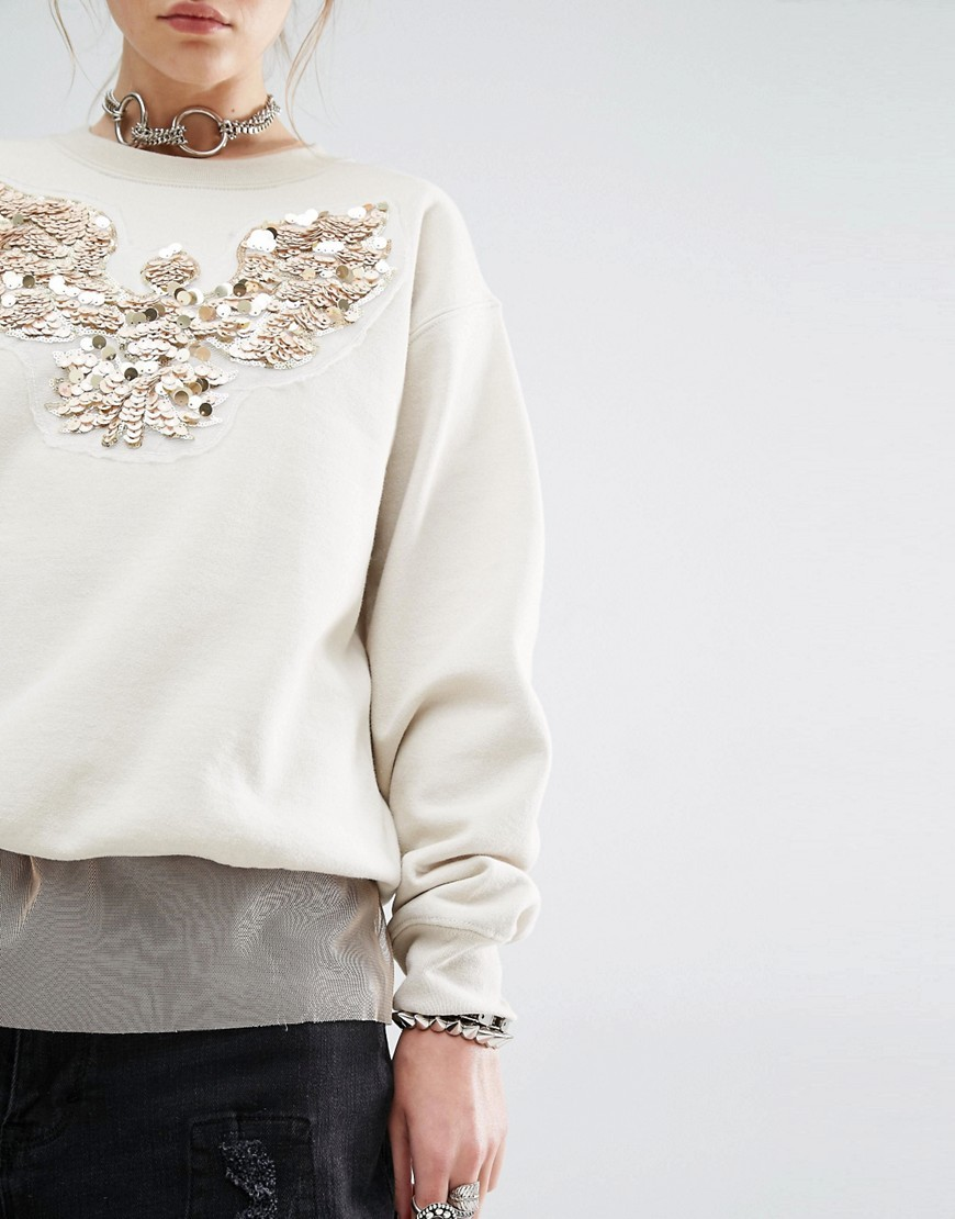 Embellished jumper by Reclaimed Vintage