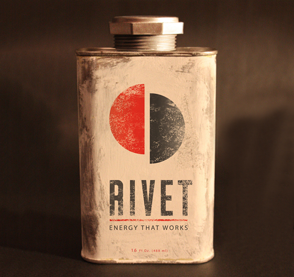 Rivet, 25 Amazing Bottle Packaging Design examples, packaging design, packaging design inspiration, design inspiration, cool bottles, vodka bottles, spirits bottles, gin bottle design, vodka bottle design, best bottle designs, product design, graphic design, t shirt printing UK, screen printing UK, screen printing onto bottles, how to create a cool bottle label, Printsome blog, russian bottle designs