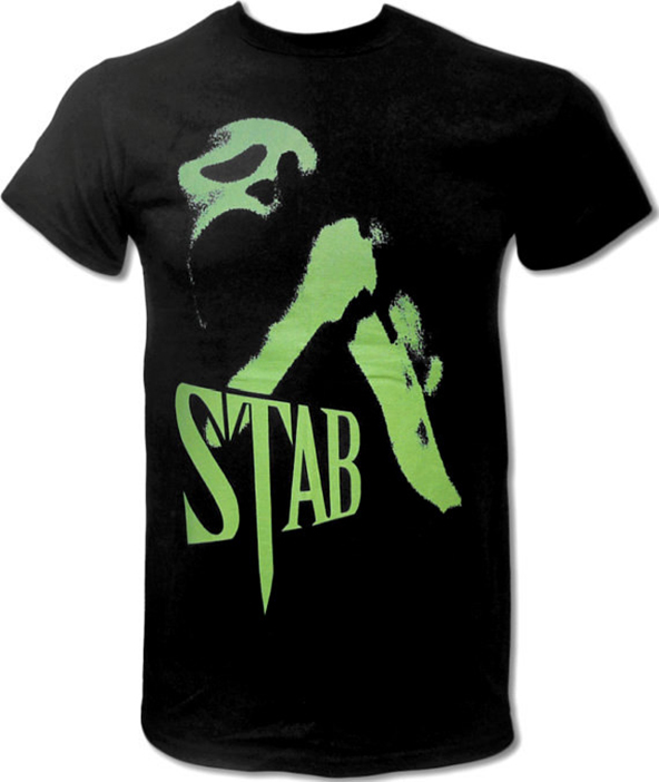 scream, scream t-shirt, scream stab t-shirt, stab t-shirt,