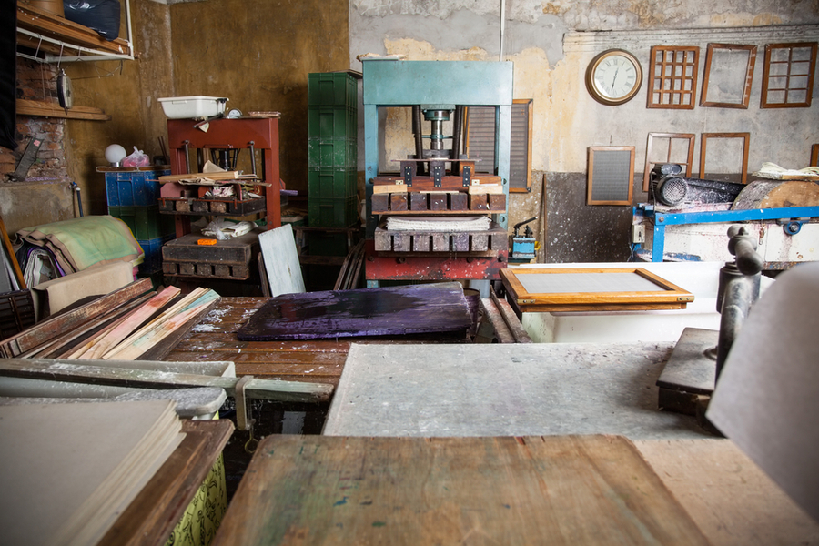 A Screen Printing Studio