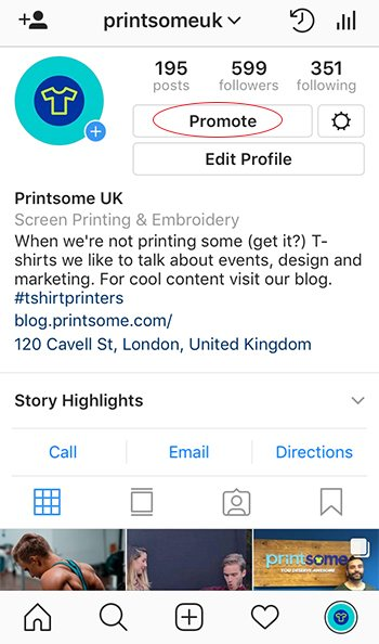 sell t-shirts on Instagram, screenshot, printsome