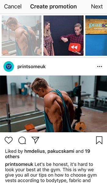 sell t-shirts on instagram, step 2, choose post
