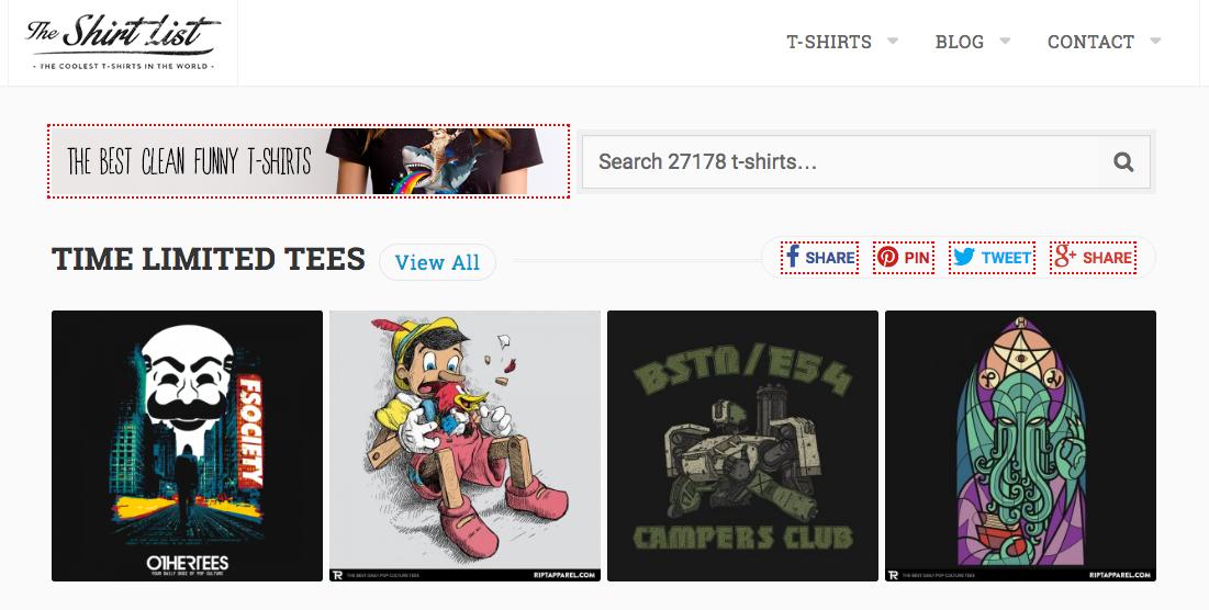 shirt list