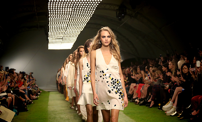 Catwalk of Topshop Unique during London Fashion Week SS14