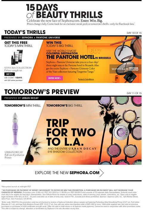 Social Media Contest Ideas: Sephora