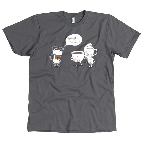 sorry im latte, sorry im latte t-shirt, coffee t-shirt, london coffee festival, coffee shirts