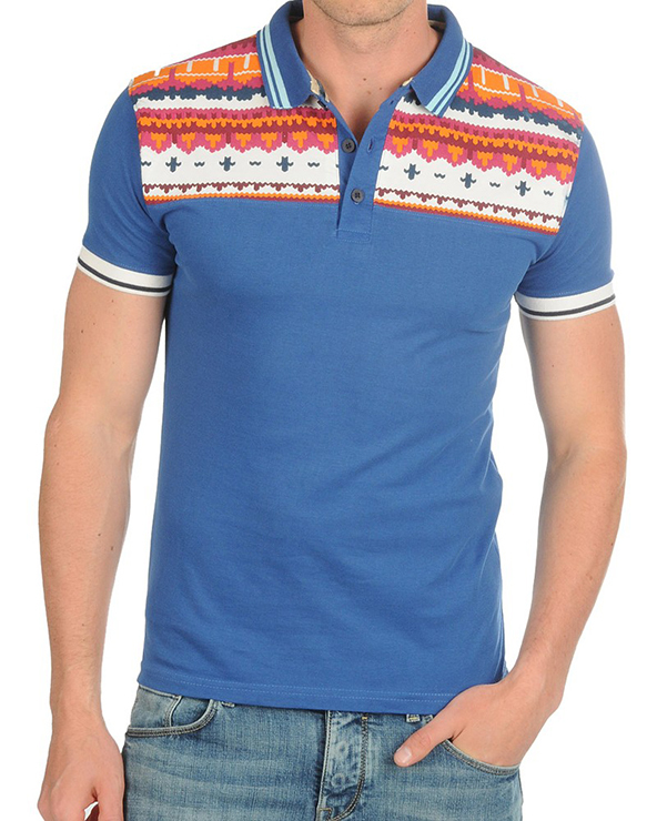 polo shirt, polo shirt printing, printed polo shirt, aztec print polo shirt,