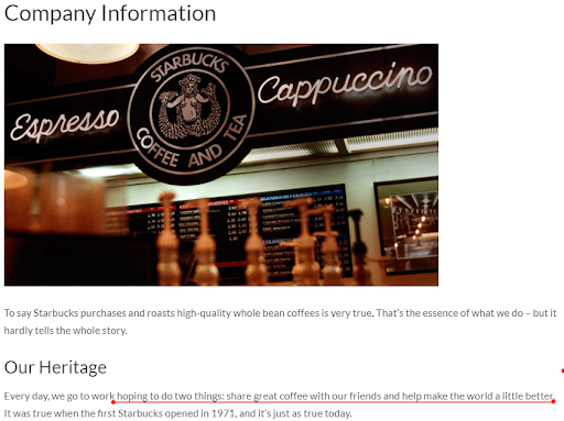 Starbucks about us
