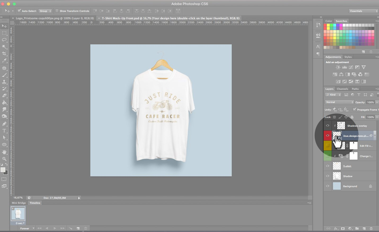 Design T Shirt Photoshop Cs6: How to use a T-Shirt template on Photoshop the right wayrh:blog.printsome.com,Design