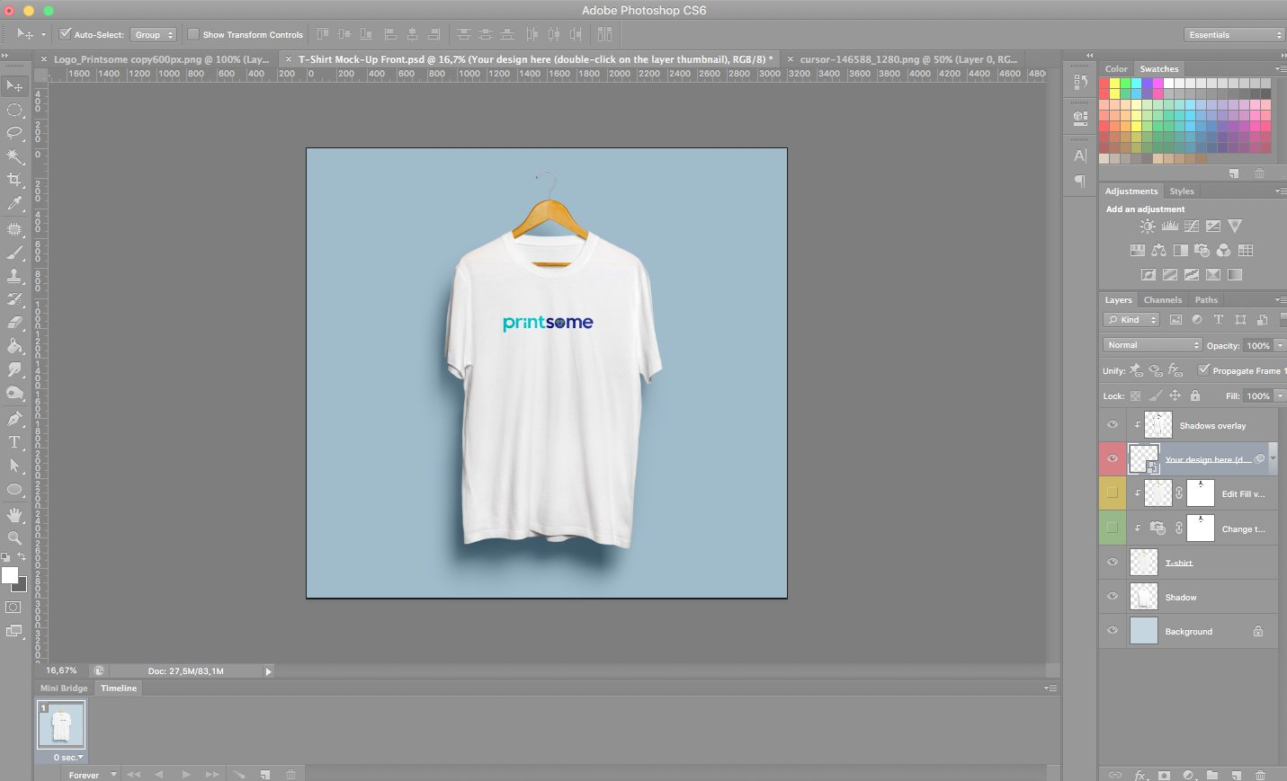t-shirt template, t-shirt mockup, photoshop, screenshot