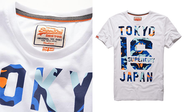 b3300aba Superdry UK, screen printed t-shirt, Superdry screen printed T-shirt design