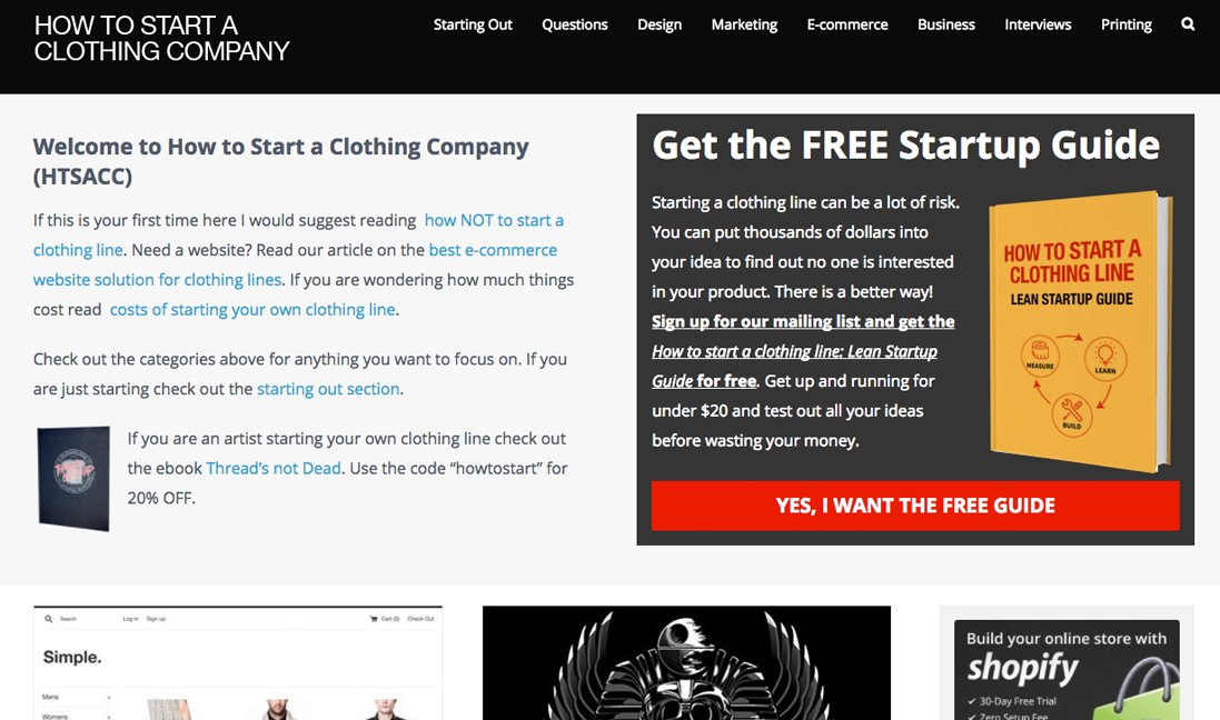 T-shirt Blogs How to start a clothing company