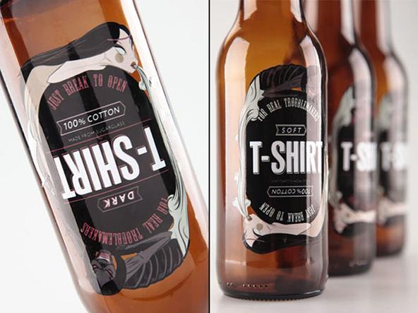 t-shirt packaging, packaging, bottle packaging, creative packaging