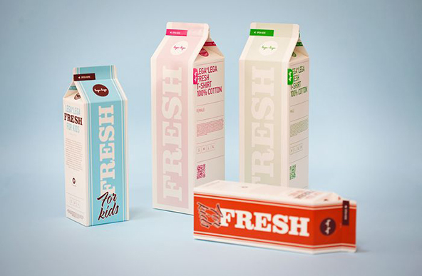 Creative T-shirt packaging Design Examples