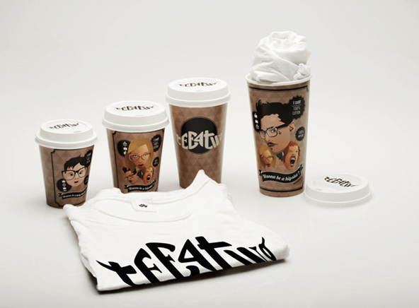 Coffee Cup T shirt Packaging in Packaging Design | Shirt