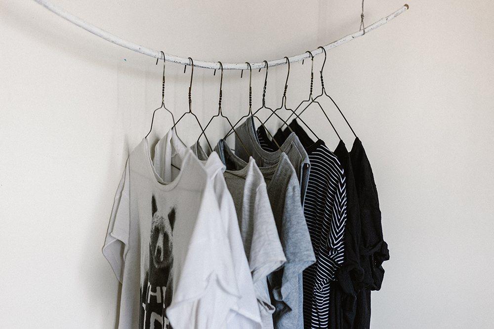 t-shirt printing london, hangers, t-shirts