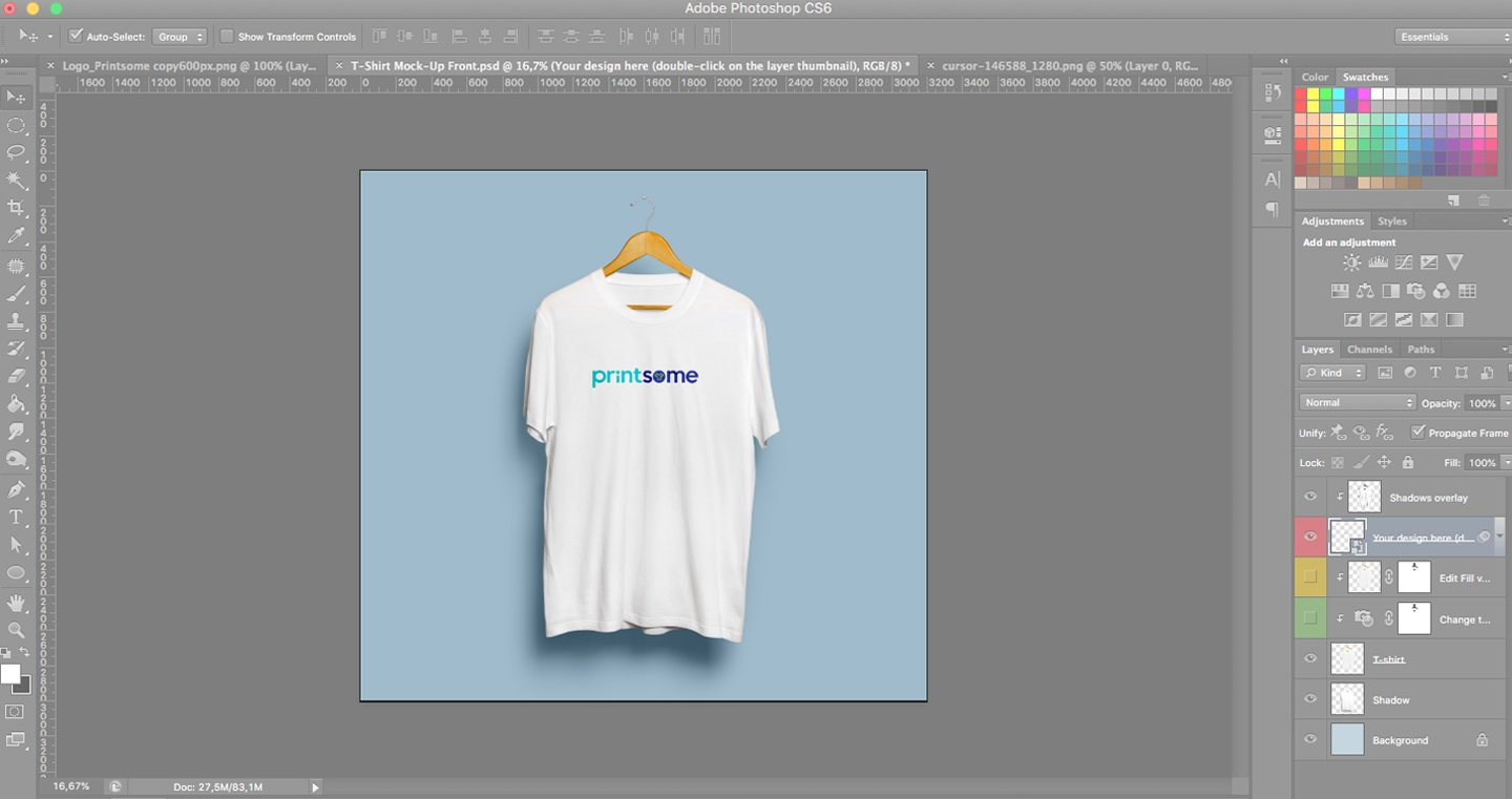 Designing T Shirts In Photoshop: How to use a T-Shirt template on Photoshop the right wayrh:blog.printsome.com,Design