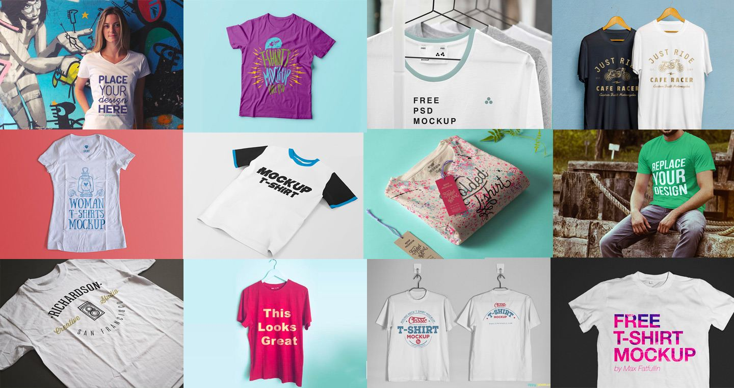 100+ Best T-shirt Templates, Vectors & PSD Mockups [Updated 2019] 👕