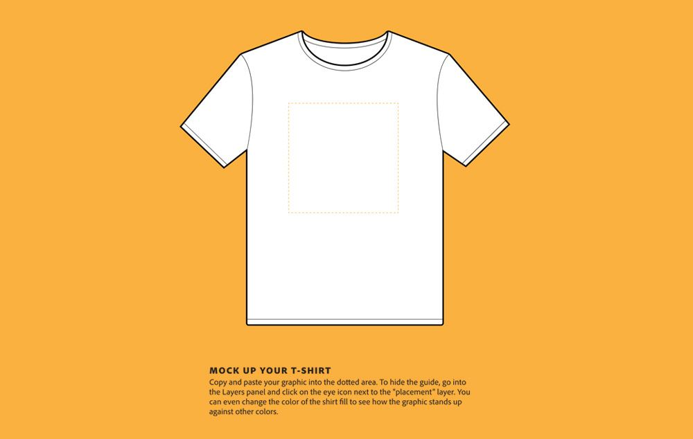 T Shirt Templates Vectors Adobe