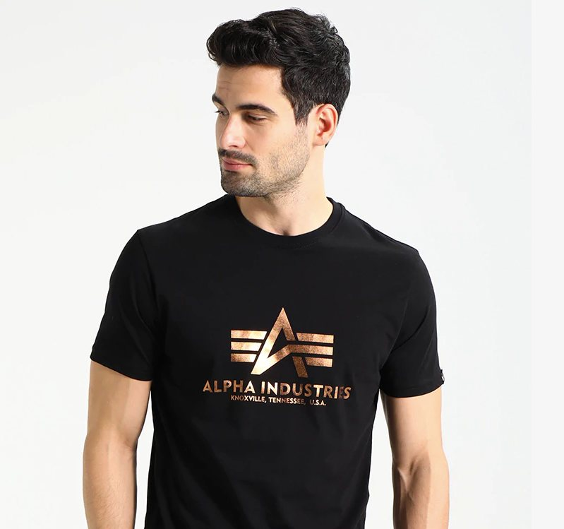t-shirt trends 2018, alpha industries, foil
