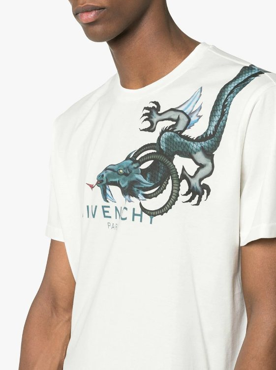 t-shirt trends 2018, givenchy, chinese dragon print