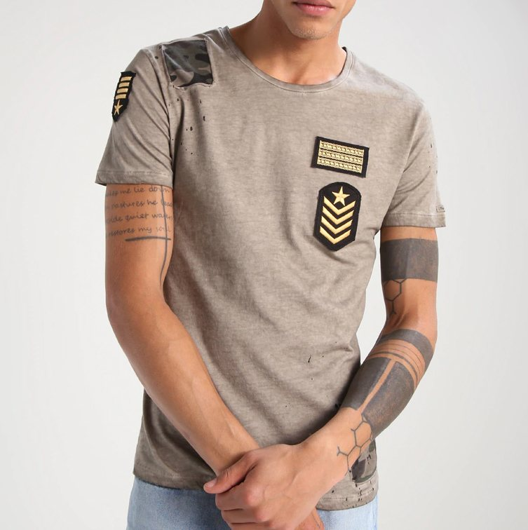 t-shirt trends 2018, camo, key largo, zalando