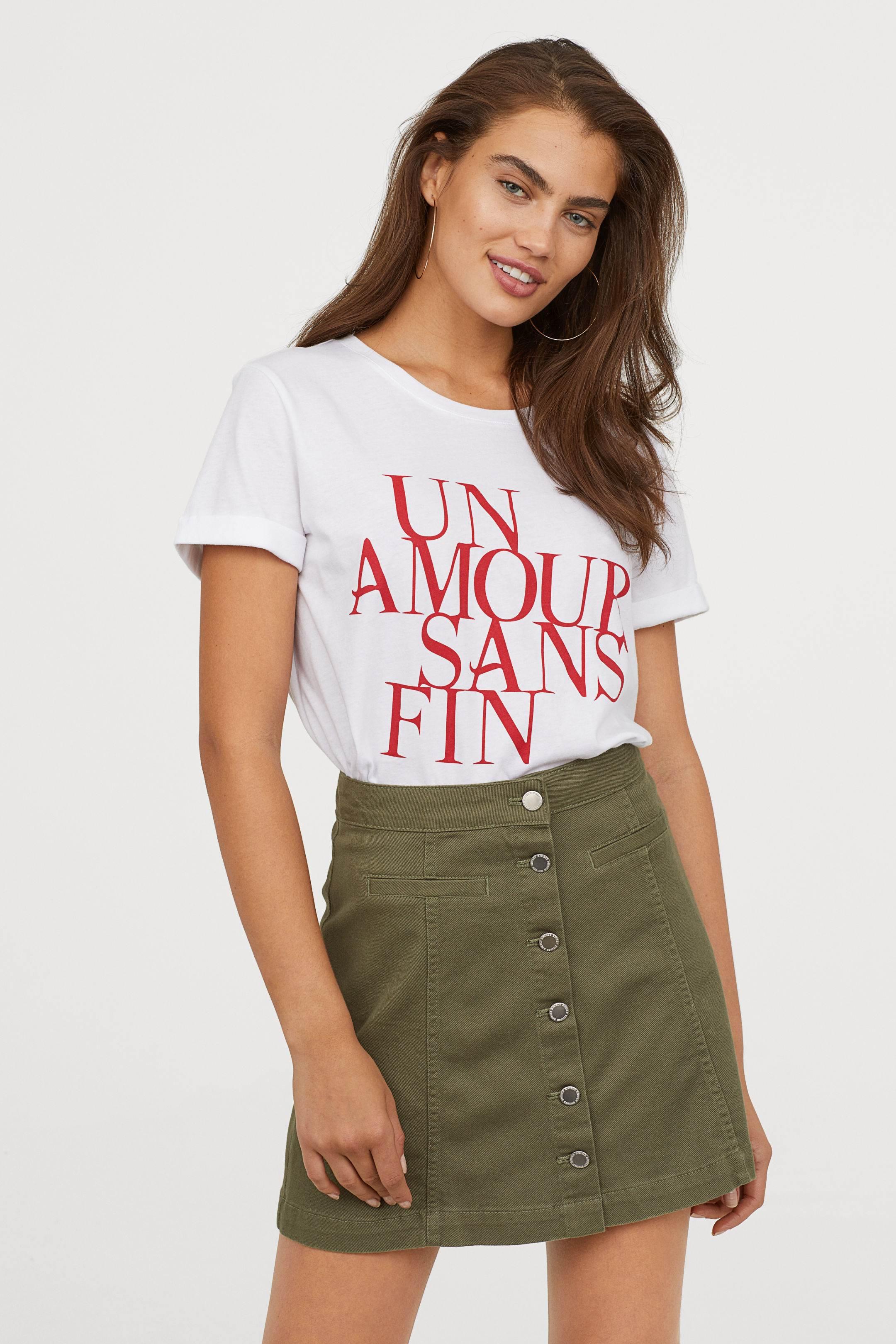 t-shirt trends, H&M, typeface
