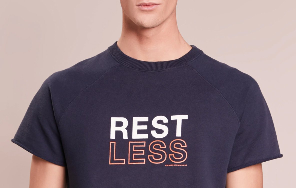 t-shirt trends 2018, ron dorff, slogan print