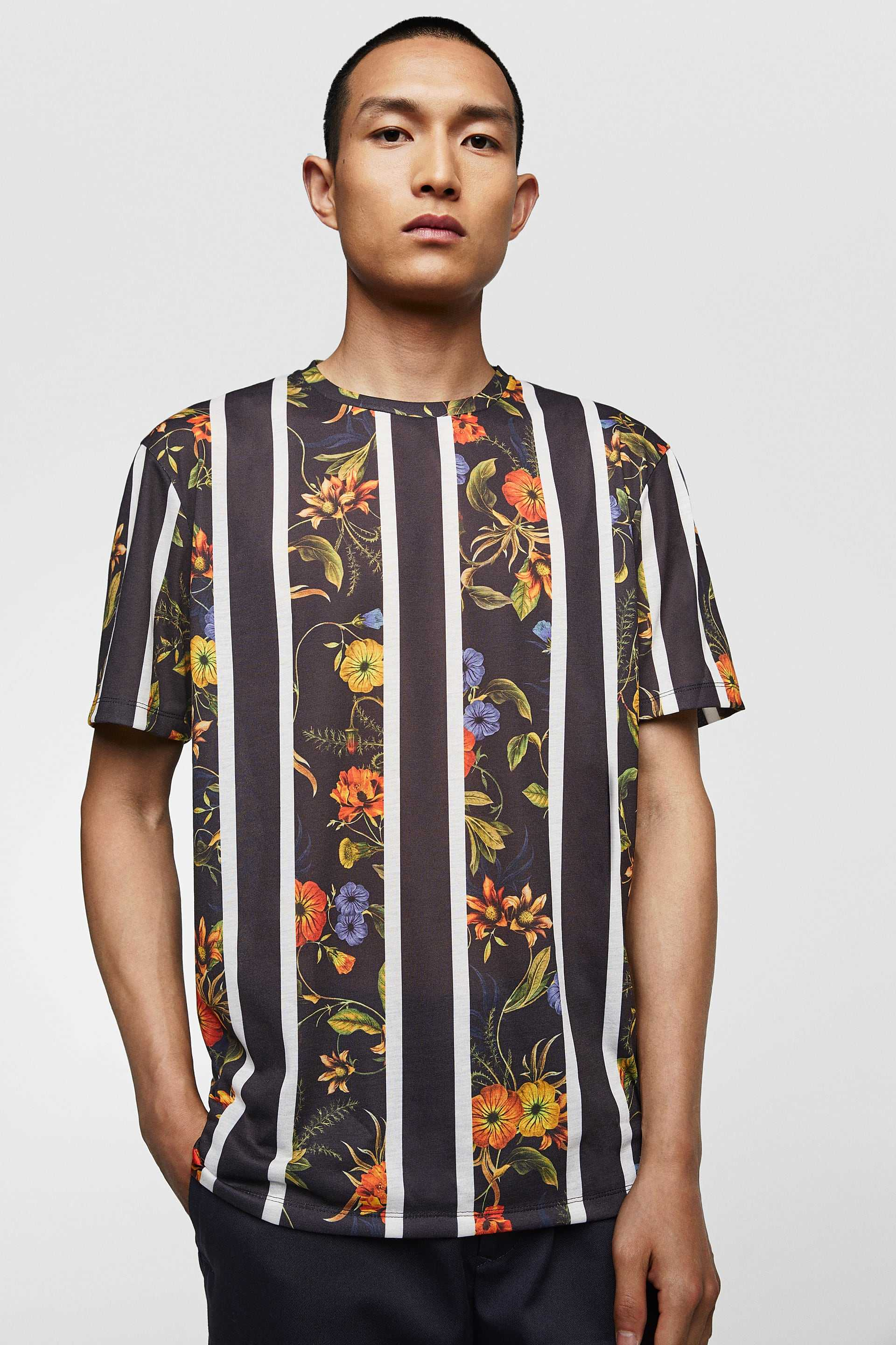 T-shirt trends 2018, Zara, Flowers