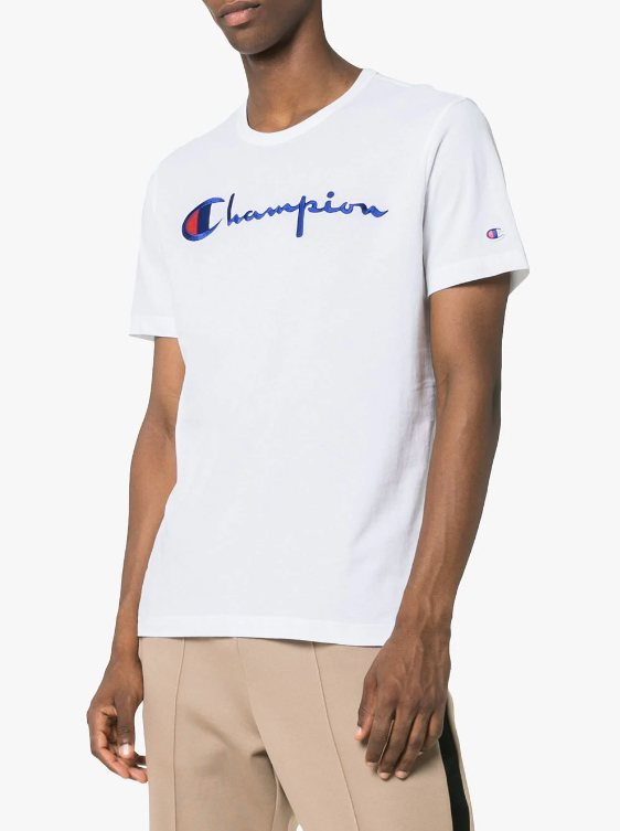 t-shirt trends 2018, champion, logos