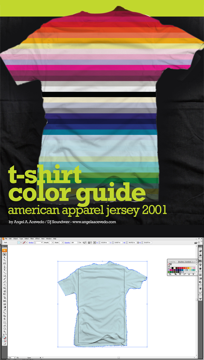 t-shirt colour mockup, t-shirt colour guide,