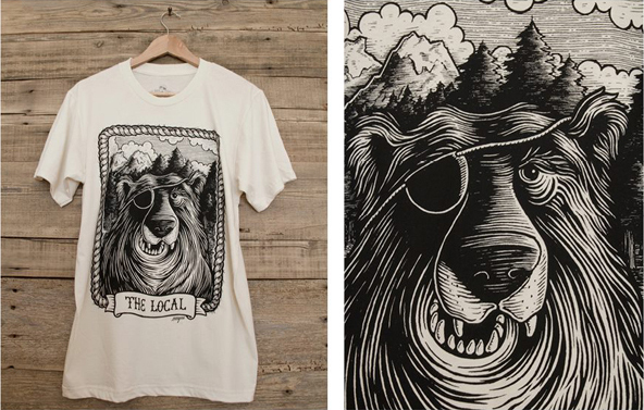 The Local t-shirt brand, #tshirttuesday, t-shirt printing inspiration, design inspiration,