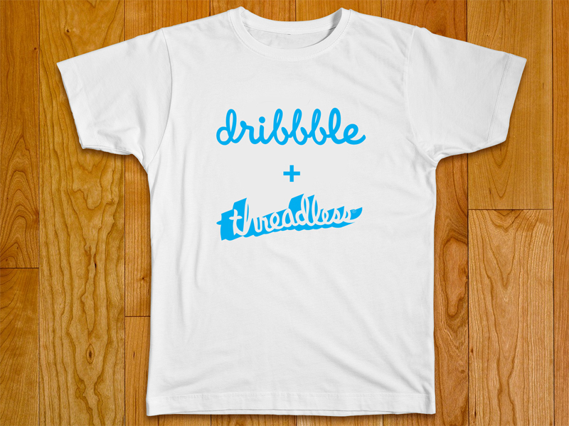 threadless dribbble mockup, dribbble template
