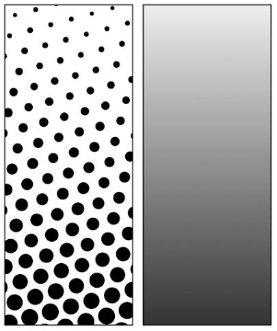 Half tone screen printing