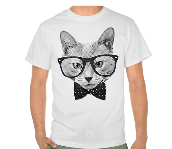 hipster cat t-shirt, hipster cat, hipster t-shirt