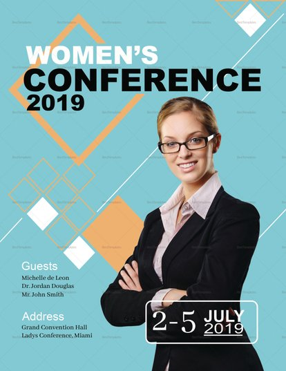 Template for professional events, Women's conference