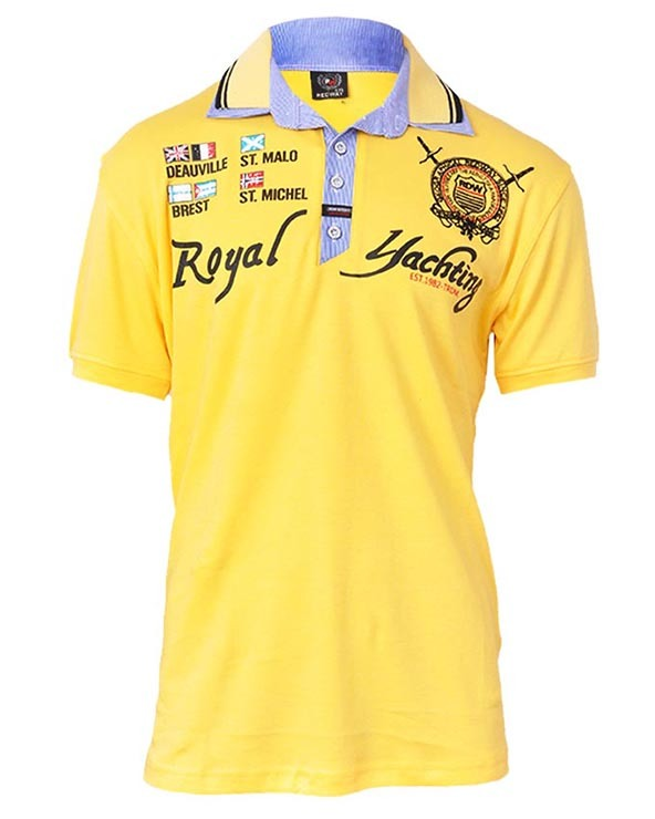 polo shirt, polo shirt printing, printed polo shirt, yellow polo shirt